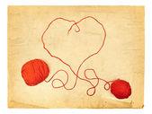 Heart Knitting — Zdjęcie stockowe