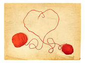 Heart Knitting — Stockfoto