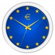 Stock Photo: Euro Clock