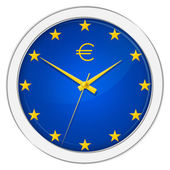 Euro Clock — Stock Photo