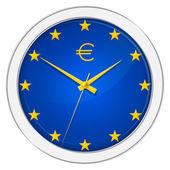 Reloj euro — Foto de Stock