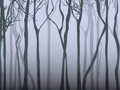 Fog Forest — Stock Vector
