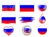 Russian Federation Flag Set — Stock Vector