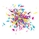 CMYK Abstract Explosion — Stock Vector