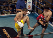 Winner I.Ganin(yellow) and A.Shilov(black) — Stock Photo