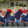 Stock Photo: Russifolk ansamble of dance Rainbow