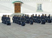 Parade of presidential guards. The Kremlin. Moscow. Russia — Stock Photo