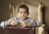 可爱的小小旅行家 — 图库照片