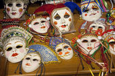 Masks onle a table — Stock Photo