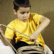 Stock Photo: Tied up kid