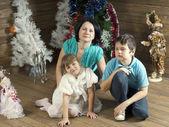 New Year family — Stock Photo