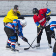 Players on faceoff — Stock Photo #21296875