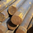 Rust steel rods - Stock Photo