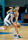 Ilona Korstin (white) atack — Stock Photo