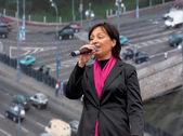 Singer of Kalina groupe — Stock Photo