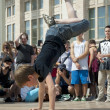 Breakdancer up side down — Stock Photo