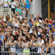 Crowd of spectators — Stock Photo