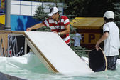 Prepare the wakeboard place — Stock Photo