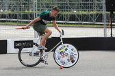 Bicycle polo — Stock Photo