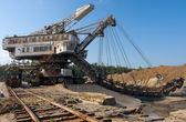 Digging mine machine — Stock Photo