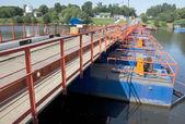Cherkizovo river bridge — Stock Photo