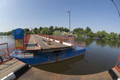 Opening river bridge — Stock Photo