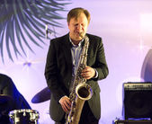 Igor Butman and saxophone — Stockfoto