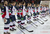 Slovan team just before game — Stockfoto
