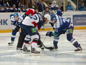 Face off. R.Branko (92) vs K.Gorovikov (21) — Stock Photo