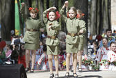 Military uniform kids — Stock Photo