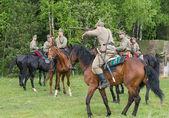 żołnierz kawalerii z karabin — Zdjęcie stockowe