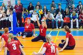 T. Ivanova (1), J. Mednikova (3) and I. Smirnova (13) — 图库照片