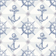 Seamless nautical background with hand drawn elements — Stock Vector #12043204