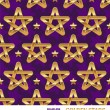 Seamless pattern with golden stars - vector illustration — Stock Vector