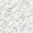 Vector seamless background with hand drawn treble clef and notes - Vettoriali Stock