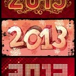 Vector illustration - New Year 2013 — Stock Vector