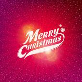 Vakantie ontwerp met inscriptie - merry christmas — Stockvector