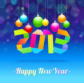 Happy New Year 2013 - holidays vector illustration — Stock Vector