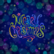 Multicolored Christmas greeting sign - Stock Vector