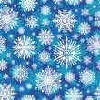 Seamless winter snowflakes vector background — Stock Vector