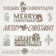 Royalty-Free Stock Vector Image: Vector hand drawn Christmas greetings and signs