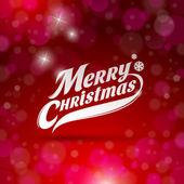 Vakantie kaart ontwerp met decoratieve inscriptie - merry christmas — Stockvector