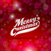 Holidays card design with decorative inscription - Merry Christmas — Stock Vector