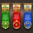 Vertical banners with Christmas greetings and signs — Stock Vector