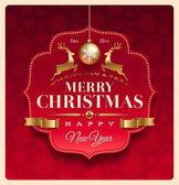 Etiqueta decorativa de la felicitación de navidad — Vector de stock