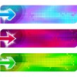 Three banners with arrows — Stock Vector #1723514