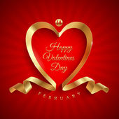 Valentines day greeting — Vettoriale Stock