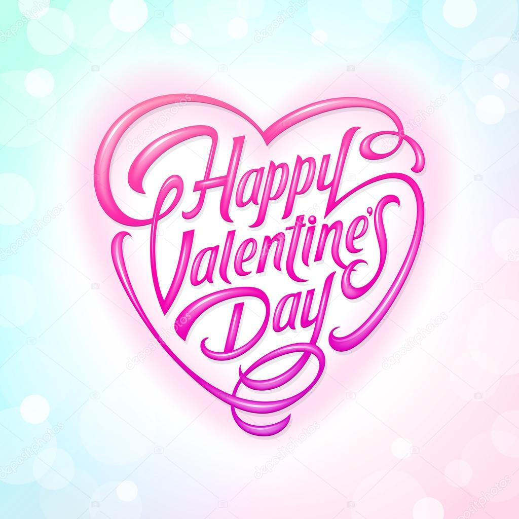valentines day decorative lettering stock vector 18706341