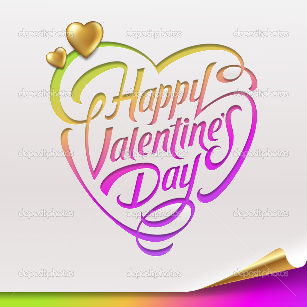 Valentines Day greeting sign - vector illustration — Stock Vector #18706395