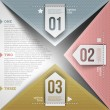 Abstract infographic design with paper numbered elements - Imagen vectorial